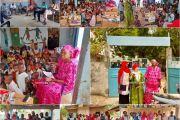 EDUCATION MATERNELLE : LA MARRAINEAINE ELISABETH NDIAYE APPUIE L'ECOLE MATERNELLE DE GRIMPALLE
