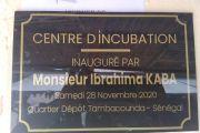 Inauguration d'un centre d'incubation à Tambacounda par monsieur Ibrahima Kaba